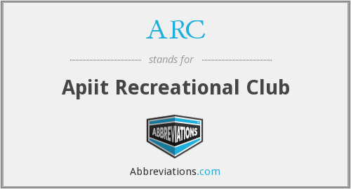 ARC - Apiit Recreational Club