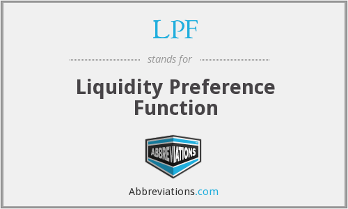 LPF - Liquidity Preference Function