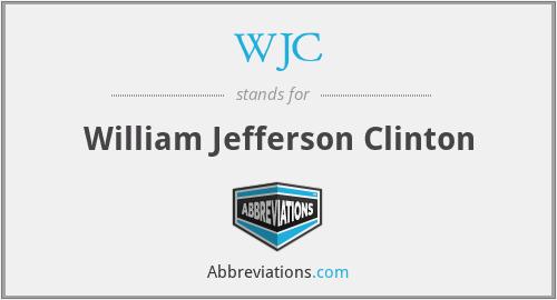 WJC - William Jefferson Clinton