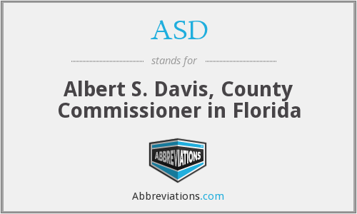 ASD - Albert S. Davis, County Commissioner in Florida