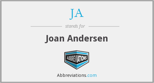 JA - Joan Andersen