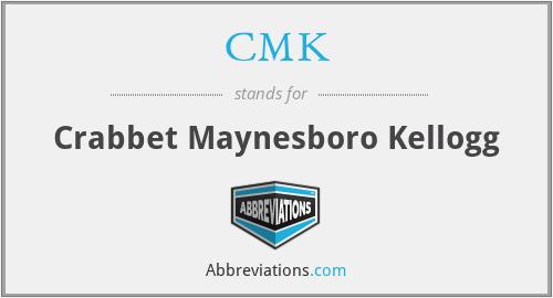 CMK - Crabbet Maynesboro Kellogg