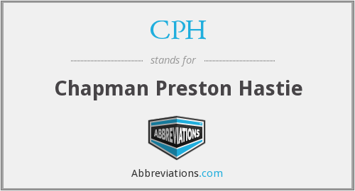 CPH - Chapman Preston Hastie