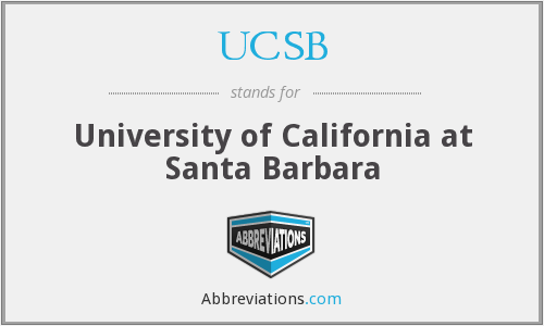 UCSB - University of California at Santa Barbara
