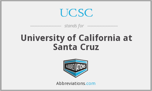What does UCSC stand for?