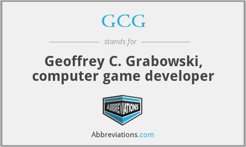 GCG - Geoffrey C. Grabowski, computer game developer