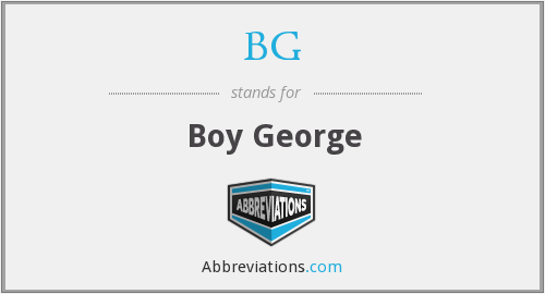 BG - Boy George