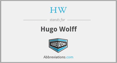 HW - Hugo Wolff