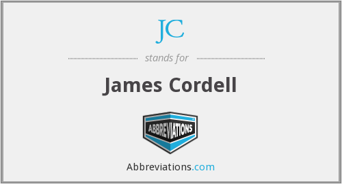JC - James Cordell