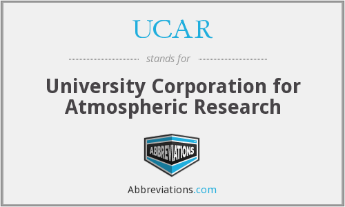 What does UCAR stand for?