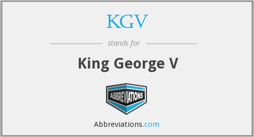 What does KGV stand for?
