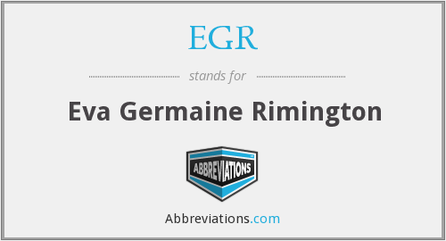 EGR - Eva Germaine Rimington