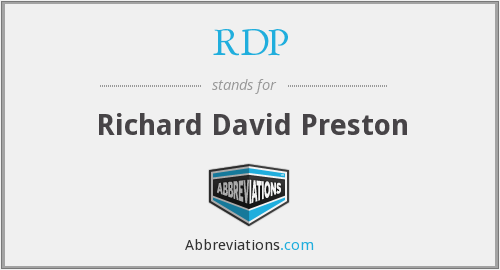 RDP - Richard David Preston