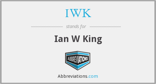 IWK - Ian W King
