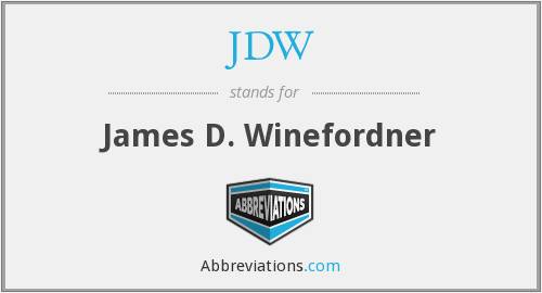 JDW - James D. Winefordner