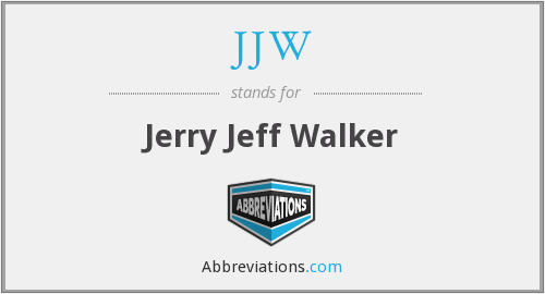 JJW - Jerry Jeff Walker