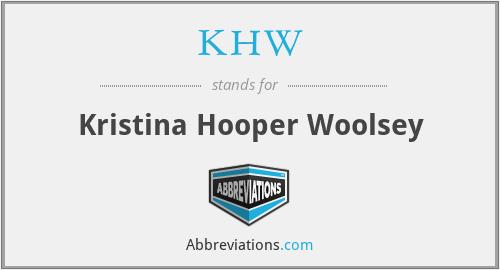 KHW - Kristina Hooper Woolsey