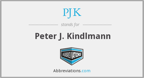 What does PJK stand for?