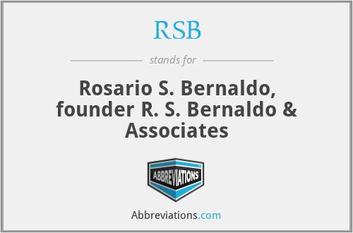 RSB - Rosario S. Bernaldo, founder R. S. Bernaldo & Associates