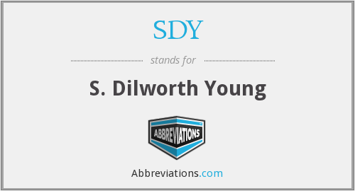What does SDY stand for?