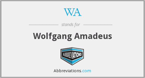 WA - Wolfgang Amadeus
