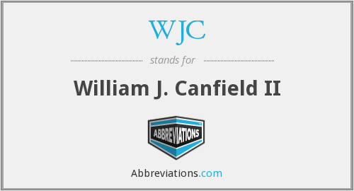 WJC - William J. Canfield II