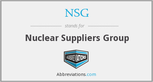 NSG - Nuclear Suppliers Group