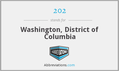 202 - Washington, District of Columbia