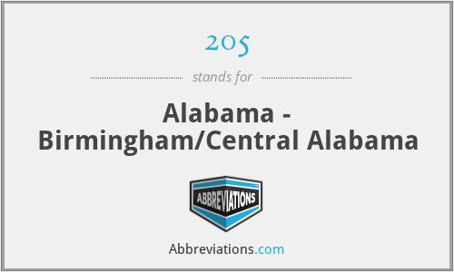 205 - Alabama - Birmingham/Central Alabama