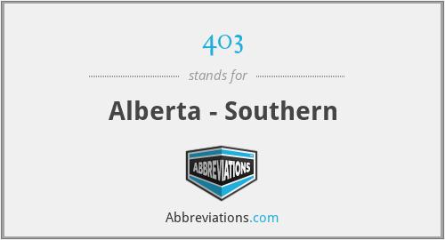 403 - Alberta - Southern