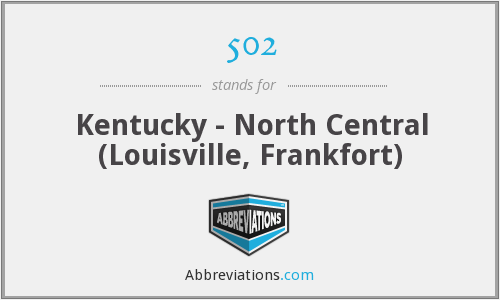 502 - Kentucky - North Central (Louisville, Frankfort)