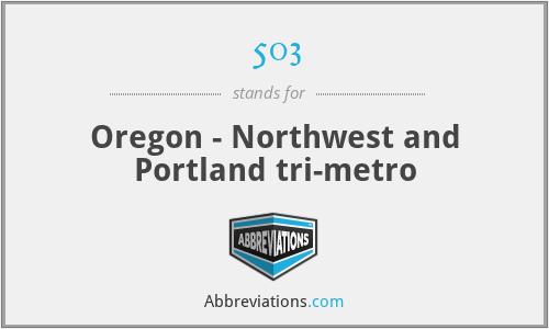 503 - Oregon - Northwest and Portland tri-metro