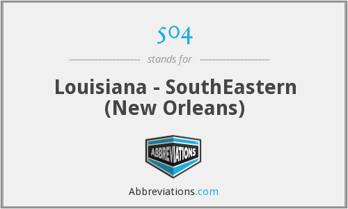 504 - Louisiana - SouthEastern (New Orleans)