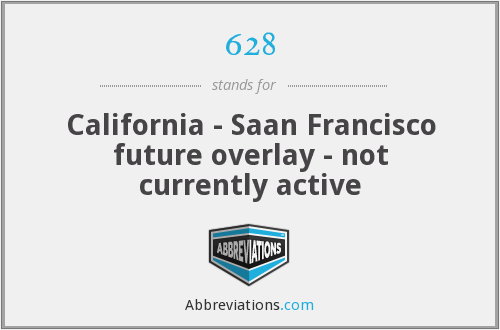 628 - California - Saan Francisco future overlay - not currently active