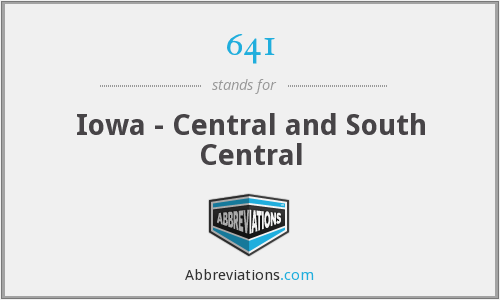 641 - Iowa - Central and South Central