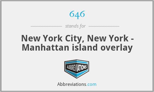 646 - New York City, New York - Manhattan island overlay