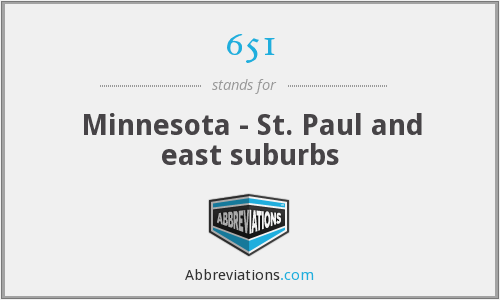 651 - Minnesota - St. Paul and east suburbs