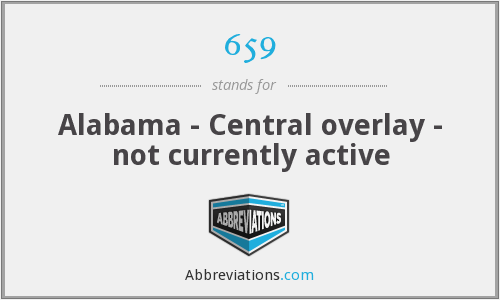 659 - Alabama - Central overlay - not currently active