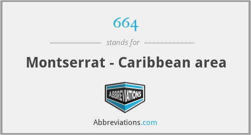 664 - Montserrat - Caribbean area
