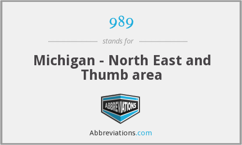 989 - Michigan - North East and Thumb area
