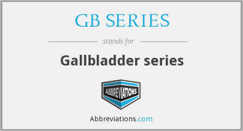GB SERIES - Gallbladder series