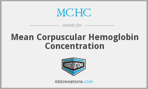 What does MCHC stand for?
