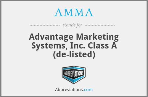 AMMA - Advantage Marketing Systems, Inc. Class A (de-listed)
