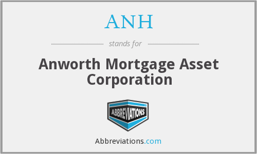 ANH - Anworth Mortgage Asset Corporation