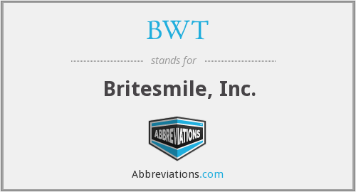 What does BWT stand for?