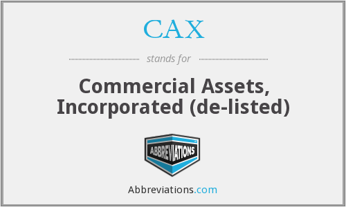 CAX - Commercial Assets, Incorporated  (de-listed)