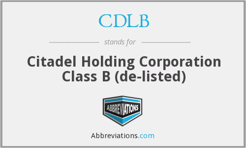 What does CDLB stand for?