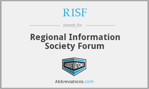 RISF - Regional Information Society Forum