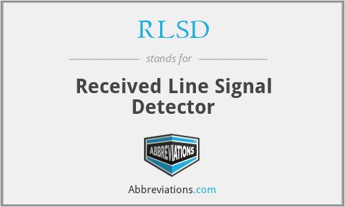 RLSD - Received Line Signal Detector