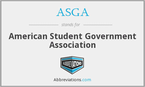 ASGA - American Student Government Association